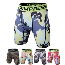 Wholesale Orange Yellow Tights - Men underwear Elastic Yoga Shorts Sports Running Tights Camouflage Shorts For Men Basketball Running Gym Jogging Compression Tights A111114