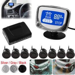 Wholesale Lcd Car Parking Sensors - SALE! Weatherproof 8 Rear Front View Car Parking Sensors Reverse Backup Radar Kit System with LCD Display Monitor CAL_215