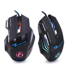 Wholesale X7 Gaming Mouse - Professional Wired Gaming Mouse 7 Button 5500 DPI LED Optical USB Gamer Computer Mouse Mice Cable Mouse High Quality X7 with retail box