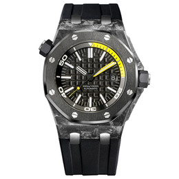 Wholesale Men Watch Royal - Super Luxury Mens Mechanical Automatic Date Watch Men Full Steel Royal Waterproof Watches rubber band Wristwatches 15706AU.OO.A002CA.01