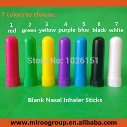 Wholesale inhaler glass - 100 sets lot colorful Blank Nasal Inhaler Parts (4 parts set, for filling essential oils, manufacture)