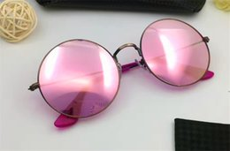 Wholesale Square Jelly - Classic round sunglasses retro design style jelly color super clear lens summer style top quality uv protection eyewear with original box