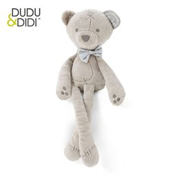 Wholesale Large Plush Bears - Wholesale- Baby 35cm large plush bear sleeping comfort doll plush toys Millie & Boris Smooth Obedient bear Sleep Calm Doll - WJ190