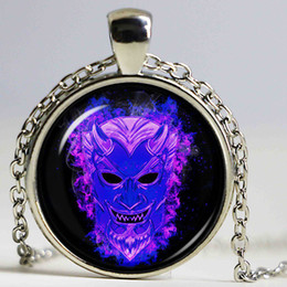 Wholesale Guy Pendants - Mask Jewelry Guy Fawkes Day Statement Necklace Alloy Mask Necklace Bonfire Night
