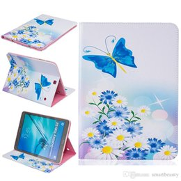 Wholesale China J - Butterfly Love Flower PU Leather Flip Case for Samsung T280 T350 T377 T550 T560 T580 T715 Case T815 TBA J T285 With Card Holder