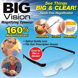 Fábrica Barato Por Atacado New Big Vision Óculos Óculos de Ampliação Ver 160% Mais Melhores óculos de lupa de aumento de