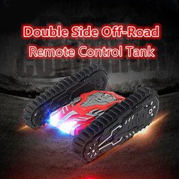 Wholesale Bike Model Toys - Wholesale- 2017 new war model RC trial bike 2888 crawler-type over the wall double side remote control off-road Crawlers stunt tank car toy