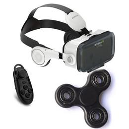 2019 lunettes bleues pas cher Gros- Google carton VR BOX BOBO VR Z4 lunettes 3D de réalité virtuelle Casque VR + contrôleur Bluetooth Plastique EDC Fidget Spinner à main