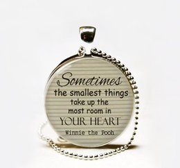 Wholesale Gift Winnie Pooh - Hot Fashion Winnie the Pooh inspirational quote necklace, classic pooh pendant necklace jewelry