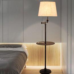 Wholesale Wrought Iron Floor Lamps - New Black Wrought iron rocker floor lamp LED energy saving lamp living room bedroom bedside floor lamp American floor lamps tea table light