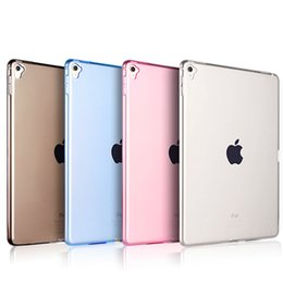 Wholesale High Quality Back Cover Ipad - High Quality Soft TPU Case for iPad Pro Transparent Slim Rubber Skin Fitting Wrapping Back Cover for Ipad Pro 9.7 inch