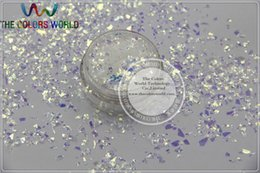 Wholesale Mylar For Nails - Wholesale-TCR6321 Iridescent white Colors Random Cut Glitter Spangles Mylar for nail art and DIY decoration