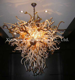Wholesale Table Lamps Sale Bedroom - Glass Material and Antique Style Murano Glass Chandelier Ceiling Lamp Table Top Centerpieces for Weddings Hot Sale Chadnelier Light