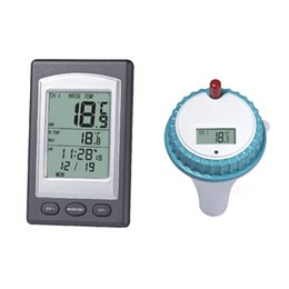 Wholesale Professional Swimming Pool - 1Pc Professional Wireless Floating LCD Display Digital Waterproof Swimming Pool SPA Floating Thermometer With Receiver