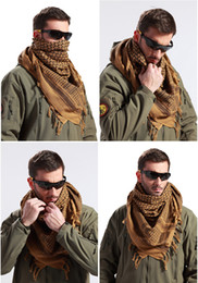 sciarpe tattiche militari Sconti Military Men Scarves Shemagh Arab Tactical Desert Army Shemagh KeffIyeh Scarf - Cotton Fashion Scarf For Men