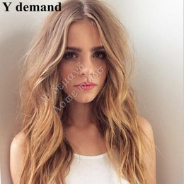 Wholesale Natural Hair Wigs Online - Classic Long Brown Wig Celebrity Cheap Wigs Online Wigs For African American Women Peruca Cabelo Natural Hair Sale Perucas