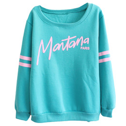 Wholesale Wholesale Womens Winter Sweaters - Wholesale-Womens Sweater Pullover 2016 Autumn And Winter Sweater Long Sleeve Fleeve Printed Letters Casual Top Plus Size
