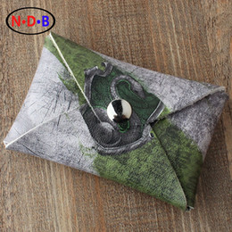 """Wholesale College Wallets - Wholesale- (Coin Purses) """"Potter Harry"""" Slytherin College coin purse Short card printing package Zero wallet male and female students tide"""