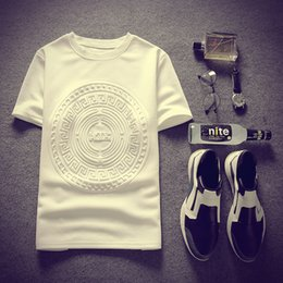Wholesale Shirt For Women Color White - Wholesale- 2016 Women Men Summer Short Sleeved Casual T Shirt Crewneck White Color Hip Hop Fashion Luxury Tshirt For Unisex Cotton Top Tees