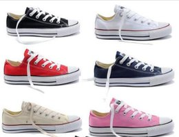 Wholesale Navy Blue Chucks - 2017 HOT New 15 Color All Size 35-45 Low Style sports stars chuck Classic Canvas Shoe Sneakers Men's Women's Canvas Shoes