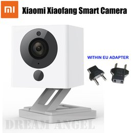 Wholesale Small Wifi Ip Cameras - IN STOCK Xiaomi XiaoFang 110 Deg F2.0 8X Digital Zoom Night Vision WiFi IP Smart 1080P Camera Xiaomi Little Small Square Camera