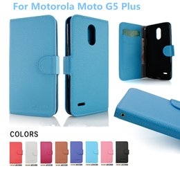 Wholesale Alcatel Mobiles Phones - For Motorola Moto G5 Plus For Alcatel A30 PU leather flip wallet stand mobile phone case cover