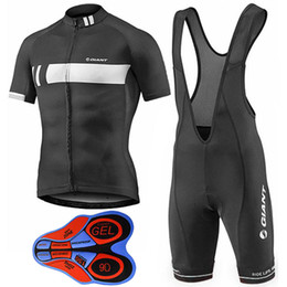 Wholesale 4xl Giant Cycling Jersey - Giant 2017 Cycling Jerseys With 9D Gel Padded Bib Shorts Summer Style MTB Ropa Ciclismo Size XS-4XL Bike Wear