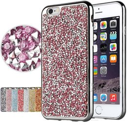 Wholesale Diamond Galaxy Case - For iPhone 7 Soft Diamond Case Bling Bling Case For iPhone 6 Shining Crystal Case For Galaxy On 5 with OPP Package
