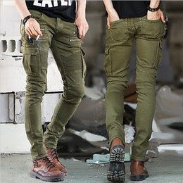Wholesale Men Low Waist Jeans - Wholesale- Fashion New Mens Denim Trousers Chinos Stretch Skinny Slim Fit Jeans All Waist Sizes