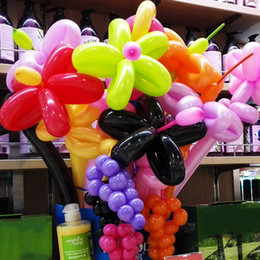 Wholesale Balloon Clown - 200pcs set Christmas Balloons Thickening Latex Twisting Modelling Clown Balloons For  Weddings Birthdays Party Decorations