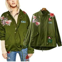 Wholesale Chinese Style Jackets Women - jackets for women fashion jackets with rivet peacock pattern Chinese embroidery flowers prints slim style women jackets Free Shipping