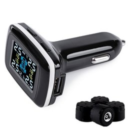 Wholesale Alarm Temperature Sensors - Wirelss Car Tire Pressure Alarm Professional TPMS 4 External Sensor Temperature Auto Smart Digital Alarm Monitoring System