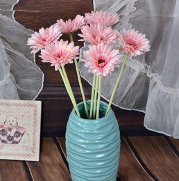 andar vasos de flores artificiais Desconto Novo Design Flor De Seda Artificial Flor Decoração Do Casamento Calliopsi para Fontes Do Partido Decorativo Crisântemo Vaso Garrafa Vaso