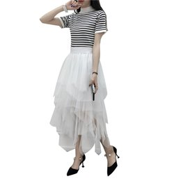 Wholesale Cheap Winters Dresses For Ladies - Cheap Ball Gown Maxi Tutu Skirts For Women Ruffled Tulle Tea Length Adult Women Skirts Lady Formal Party Wedding Guests Free Shipping Dress