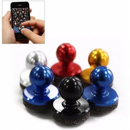Wholesale Universal Mini Mobile Joystick Joysticks Smartphone Game Rocker Touch Screen Joypad game Controller For iPad iPhone Samsung s8 Free DHL