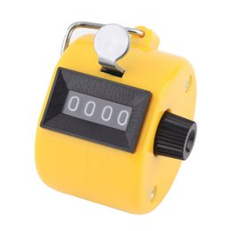 Wholesale Chrome Piece - Wholesale- New Arrival Digital Chrome Hand Tally Clicker Counter 4 Digit Number Clicker Golf New Brand