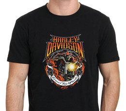 Wholesale M Wheels - 2017 Newest Fashion Harley Motorcycle Costum Forever Two Wheels T-Shirt Men'S Black Size:S To-XXL