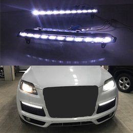 Wholesale Led Lights For Audi Q7 - For Audi Q7 2006 2007 2008 2009 06-09 LED Daytime Running Light 2pcs set DRL Waterproof ABS DC12V DRL Fog Lamp Decoration shipping by DHL