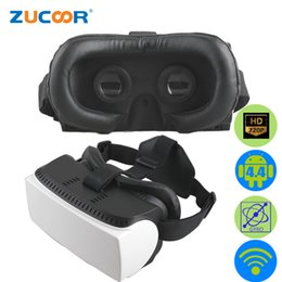 Wholesale Game Helmets - Wholesale- All In One 3D VR GlassesAndroid BOX Virtual Reality Google Cardboard Video Movie Game Head Mount Helmet WiFi Vrbox Case +Gamepad