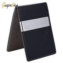 Wholesale money passports - Wholesale- Guapabien 2016 Business Boyfriend Gift Leather Money Clip Clutch Men Wallet Billfold Short Purses carteira Slim Money Card Bag