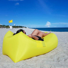 Wholesale Inflatable Novelty Gifts - Wholesale- 2017 trending lazy sofa high quality easy inflatable sofa air bag novelty gift air sofa travel camping sleeping bag