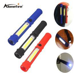 Wholesale Square Driving Led Light - AloneFire X300 COB LED Mini Pen Multifunction led Torch light cob Handle work flashlight cob square Work Hand Torch Flashlight With Magnet