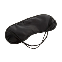 Wholesale Mask Lights - 1000pc DHL Black Sleeping Eye Mask Blindfold Travel Sleep Aid Cover Light Guide Drop Shipping Wholesale 2016 Hot