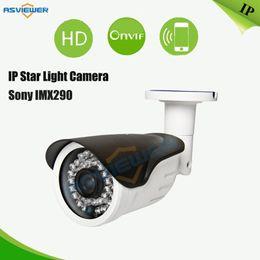 Wholesale Ip Camera Outdoor Wdr - H.265 2MP 1080P True WDR Star light Camera 3516D+IMX290 Sensor 36pcs IR Outdoor Waterproof 1080P IP Camera AS-IP8310SD