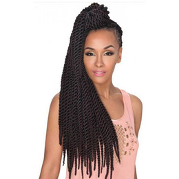 "Wholesale 2x 12 - Havana mambo twist european hair for braiding 12""18""24inch crochet braid hair 2x Havana twist ombre synthetic for braids freetress hair"