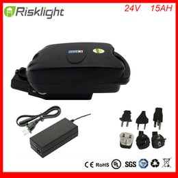 Wholesale Electric Bicycle Battery 24v - Hot 24v 15ah lithium ion battery packs frog type 24volt electric bicycle battery with BMS and charger