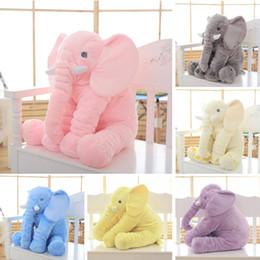 Wholesale Elephant Plush Stuffed Toy Doll - Wholesale-65cm Height Large Plush Elephant Doll Toy Kids Sleeping Back Cushion Cute Stuffed Elephant Baby Accompany Doll Xmas Gift