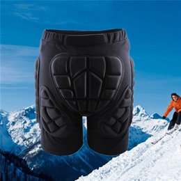 Wholesale Skate Protective - WOLFBIKE Black Short Protective Hip Butt Pad Snowboard Skating Skiing Protection Drop Resistance Roller Padded Shorts 2510029