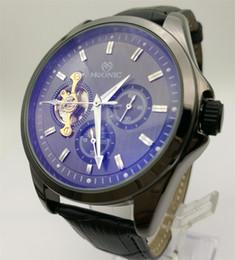 Wholesale Watch Wholesale China Luxury - Automatic Mechanical Watch Men's Leather Moon Phase Flywheel Watch China Guangzhou Luxury Fashion Brand MUONIC Watch