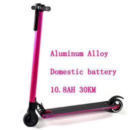 Wholesale Mini Bike Motors - Lightweight Aluminum Alloy Powerful Foldable Mini Electric Scooter 2 Wheel Smart Hoverboard Skateboard 10.4ah 20km adult motor bike